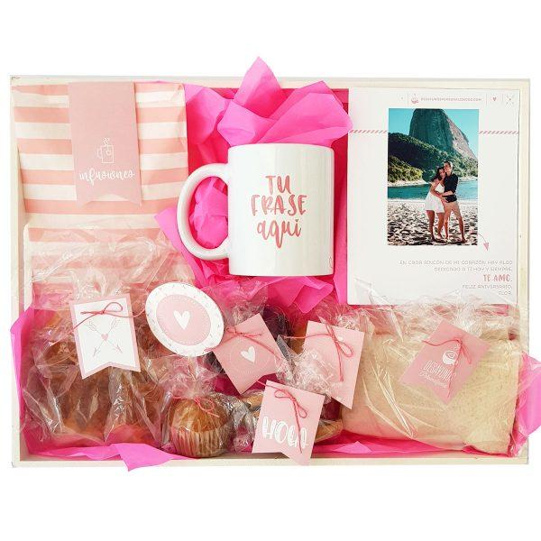 Corazones clásico con taza rosa